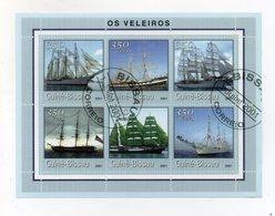 GUINEA BISSAU - 2001 - Foglietto Tematica  Trasporti - Barche (Velieri) - 6 Valori - Con Doppio Annullo - (FDC19351) - Guinea-Bissau