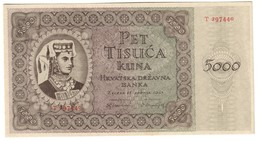 CROATIA5000KUNA15/07/1943P14UNC.CV. - Croatia