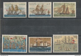 Greece - 1971 Τhe Revolution At Sea Ships  MNH** - Greece