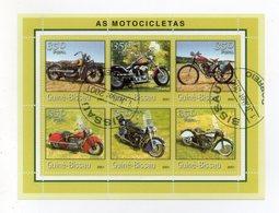 GUINEA BISSAU - 2001 - Foglietto Tematica  Trasporti - Moto - 6 Valori - Con Doppio Annullo - (FDC19352) - Guinea-Bissau
