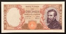 10000 Lire Michelanglo Buonarroti 15 02 1973 Q.fds  LOTTO 2288 - [ 2] 1946-… : Républic