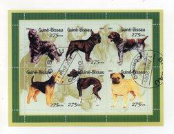 """GUINEA BISSAU - 2001 - Foglietto Tematica """" Animali - Cani """" - 6 Valori - Con Doppio Annullo - Vedi Foto - (FDC19353) - Guinea-Bissau"""
