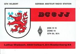 QSL - GERMANY - DC3JJ - LOTHAR KLEBSCH - VELBERT -  1975 - BLASON - Radio-amateur