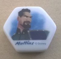 Fève Brillante Plate Hexagonale Mattias Personnage De La Reine Des Neiges - Disney