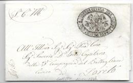 MOTI 1848 - DA LORETO PER CITTA' - 15.11.1848 - RARA. - ...-1850 Voorfilatelie