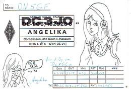 QSL - GERMANY - DC3JO - ANGELIKA -  CORNELISSEN, 418  4-HASSUM - 1975 - Radio-amateur
