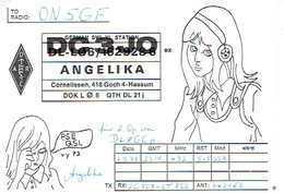 QSL - GERMANY - DC3JO - ANGELIKA -  CORNELISSEN, 418  4-HASSUM - 1975 - Radio Amatoriale