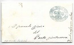 MOTI 1848 - DA CIVITANOVA A PORTO CIVITANOVA - 15.8.1848 - RARA. - ...-1850 Voorfilatelie