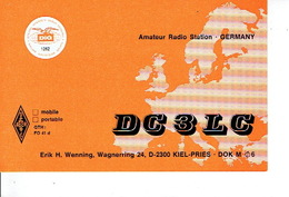 QSL - GERMANY - DC3LC - ERIK H. WENNING - KIEL-PRIES - 1979 - Radio Amateur