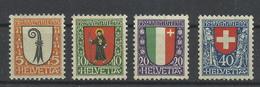 Schweiz 185/188 * - Nuovi