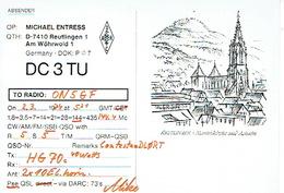 QSL - GERMANY - DC3F5 - MICHAEL ENTRESS - REUTLINGEN - 1974 - Radio Amatoriale