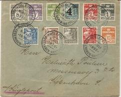 LETTRE DE 1935 .PAR AVION .AFFRANCHISSEMENT COMPOSE - Affrancature Meccaniche Rosse (EMA)
