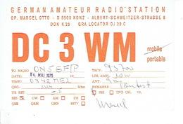QSL - GERMANY - DC3WM - MARCEL OTTO - KONZ - 1975 - Radio-amateur