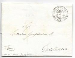 REPUBBLICA ROMANA - DA MONTESANTO A CIVITANOVA - 22.2.1849. - ...-1850 Voorfilatelie