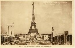 02112 - CPA  EXPOSITION INTERNATIONALE PARIS 1937. Vue D'ensemble, Prise Du Trocadero. - Exposiciones