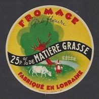 Etiquette Fromage  -  Pré Fleuri  -  Fromagerie Boscher Gallois à Aubreville (55) - Fromage
