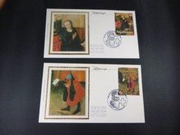 """BELG.1991 2398 & 2399 FDC's Soie/zijde (Erembodegem) & Signature Désiré Roegiest : """" Het Belgische Rode Kruis  """" - 1991-00"""