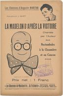 Chanson D'Augustin MARTINI - La Madelon D'après La Victoire - Partitions Musicales Anciennes