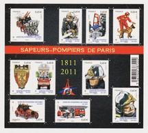 FRANCE 2011 Bloc Feuillet N° F4582 Neuf SAPEURS POMPIERS DE PARIS - Nuovi