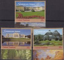 UNO-New York, 1998,  791/93, MNH **,  UNESCO-Welterbe: Schloss Und Park Von Schönbrunn, - New-York - Siège De L'ONU