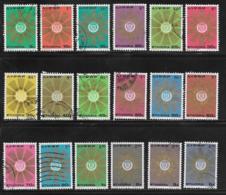 Ethiopia Scott# 789-806 Used Set Of 18 Sunburst Around Crest, 1976 - Ethiopia