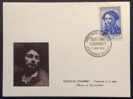 N263 Gustave Courbet  1169 Ornans Premier Jour 7/6/1958 Carte Maximum - Maximum Cards