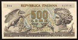 500 LIRE ARETUSA 20 06 1966 Sup/FDS  LOTTO 2306 - 500 Lire