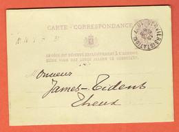 Carte Correspondance Entier Classique N°10 Verviers Station 15-DECE-1877 Vers Theux - Enteros Postales