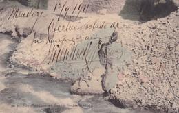 RIO MENDOZA EN PUENTE DEL INCA. MENDOZA. ARGENTINA POSTAL CPA CIRCULATED 1911 TO CORDOBA -LILHU - Argentina