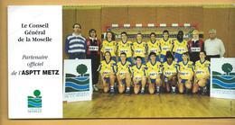 Carte  ASPTT METZ - Conseil Général De La Moselle - Handball