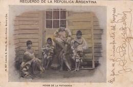 INDIOS DE LA PATAGONIA. RECUERDO DE LA ARGENTINA POSTAL CPA CIRCULATED 1903 -LILHU - Argentine