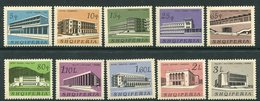 ALBANIA 1965 Buildings MNH / **.  Michel 994-1003 - Albanien