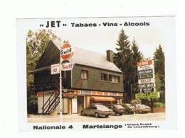 """Carte De Visite - Magasin """" JET """" MARTELANGE - Tabacs, Vins, Alcools,... Gd-Duché De Luxembourg (b274) - Visiting Cards"""