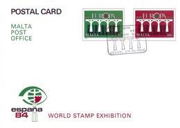 MALTA STATIONERY POST OFFICE WORLD STAMP EXHIBITION MALTA 1984 (GENN2006016) - Malta