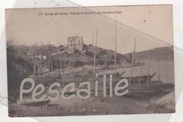 29 FINISTERE NEVEZ - CP BORDS DE L'AVEN - POINTE DE KERDRUC EN FACE ROS-BRAS - LAURENT NEL RENNES N° 877 - CIRCULEE 1931 - Névez