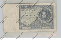 BANKNOTE - POLSKA / POLEN, Pick 72, 5 Zloty, 1930, VF - Polen