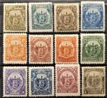 EL SALVADOR 1895 - MLH - Sc# 117-128 - Complete Set! - El Salvador