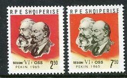 ALBANIA 1965 Postal Ministers' Conference MNH / **.  Michel 947-48 - Albania