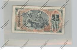 BANKNOTE - NORTH KOREA, Pick 8a, 1 Won 1947, VF - Korea (Nord-)