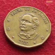 Dominicana 1 Peso 2000 KM# 80.2 Dominican Republic - Dominikanische Rep.