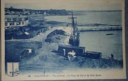 50 Manche CPA Granville  Vue Générale La Plage Du Sud Et Du Petit Bassin  1928 - Granville