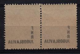 33. Yugoslavia 1949 1d Partisans Off-set Print Variety Pair MNH - 1945-1992 Repubblica Socialista Federale Di Jugoslavia