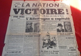 WW2 Journal La Nation Edition Spéciale 8 Mai 1945 La Victoire - Otros