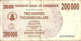 ZIMBABWE 200000 DOLLARS 2007 VF P 49 - Zimbabwe