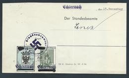 """Gebührenmarken Echternach - 0,60 RM Stempel """"Standesbeamter In Echternach"""" (15-12-1941) - Steuermarken"""