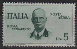 1934 Volo Roma-Mogadiscio MLH - 1900-44 Vittorio Emanuele III