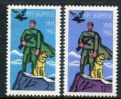 ALBANIA 1965 Border Guards MNH / **.  Michel 932-33 - Albania