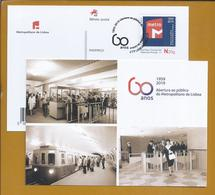 Postal Stationery Of The Lisbon Metro Railway. Ganzsachen Der Lissaboner Metro. Entier Postal Du Métro De Lisbonne. - Tramways