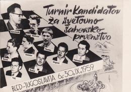 5243 - CAMPIONI DI SCACCHI A BLED 1959 - Slovenia