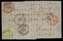 SWITZERLAND. 1865 (6 Oct.) SWITZERLAND - ARGENTINA. Basel To Rosario / Santa Fe / ARGENTINA. EL.franked 60 C.bronce (Sc. - Switzerland